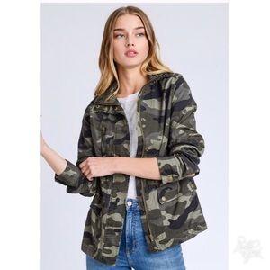Jackets & Blazers - Camouflage Pattern Jacket